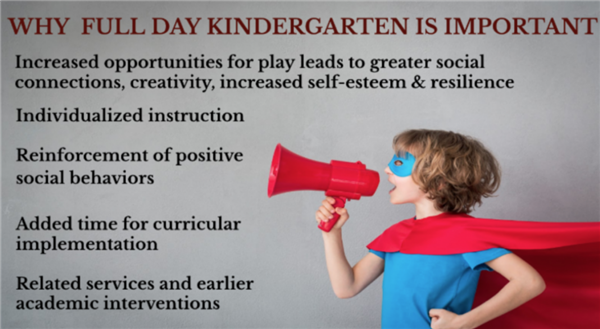 Superintendent Corner Column - Why Your Vote on Full Day Kindergarten Is Important