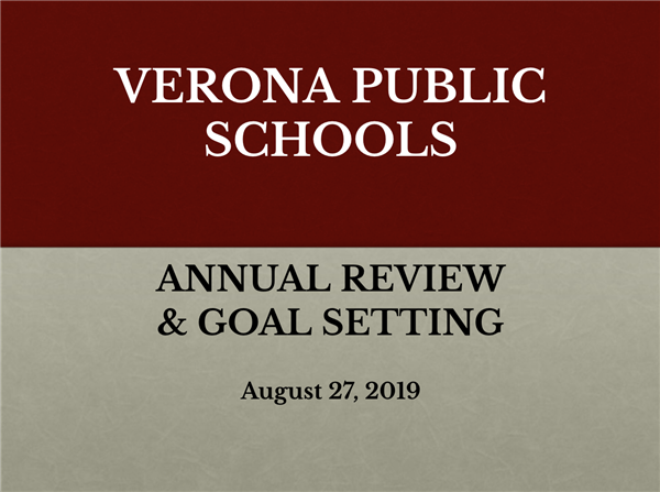 Board of Education Annual Review & Goal Setting