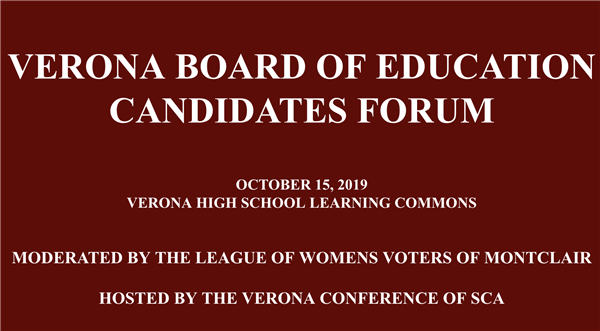 Verona Board of Education Candidates Forum