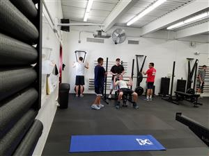 Training in the new fitness center