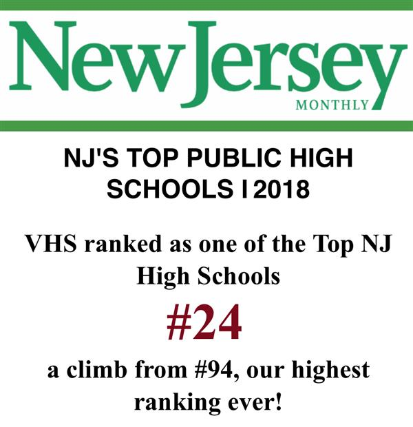 VHS ranked as a Top High School in NJ